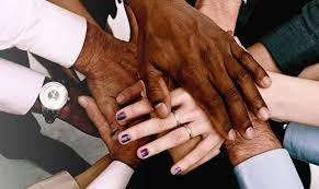 Hands, stacked, multi ethnic